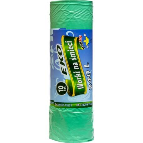 Worki 240L LD a'10 zielone EKO (10) /5550/