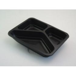 Pojemnik PP 9400D 3-dzielny czarny 320szt/kar 227/178/41 MAPTIPACK