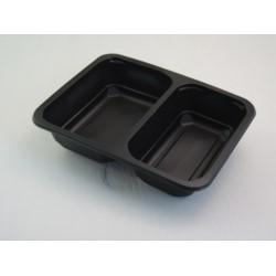 Pojemnik PP 9500 2-dzielny czarny 320szt/kar 227/178/50 MAPTIPACK