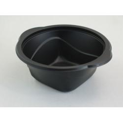 Pojemnik PP okrągły czarny na zupę 500ml D-5500 (600)