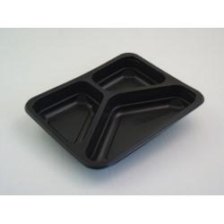 Pojemnik PP 9410 3-dzielny czarny 200szt/kar 227/178/33 MAPTIPACK