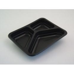 Pojemnik PP 9410 3-dzielny czarny 320szt/kar 227/178/33 MAPTIPACK