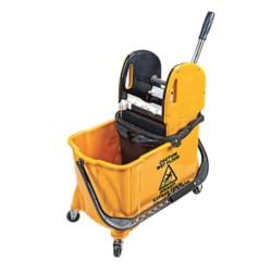NTH Wózek jednowiadrowy z separatorem 24L+8L ABS żółty UCM/HTS731