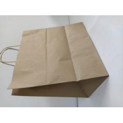 Torba papierowa z uchem szara 34/20/33 skrętka